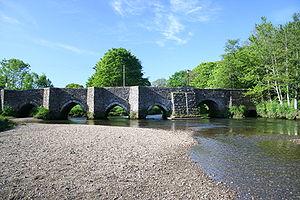 Lostwithiel - Image: Lostwithiel bridge river Fowey Cornwall