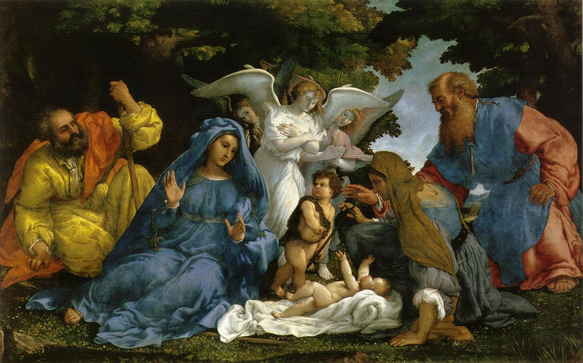 Immagini Di Natale Sacra Famiglia.Sacra Famiglia Con La Famiglia Del Battista Wikipedia