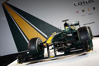 Mike Gascoyne - Lotus racing T127 launch