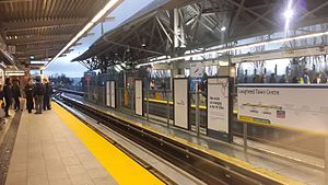Lougheed Town Centre station - Platform 3 for Evergreen Extension