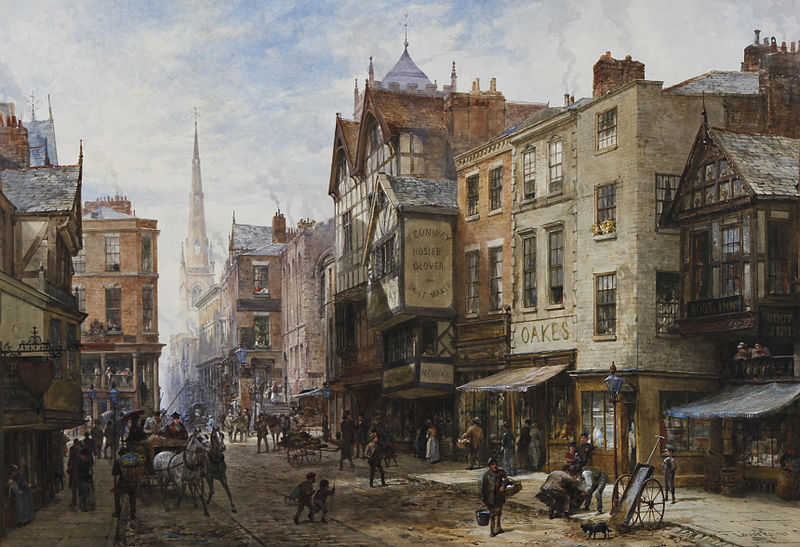 File:Louise Rayner Chester The Cross looking towards Watergate Street.jpg