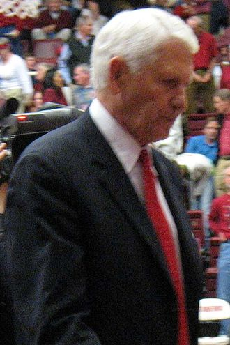 Clair Bee Coach of the Year Award - Lute Olson of Arizona won in 2001.