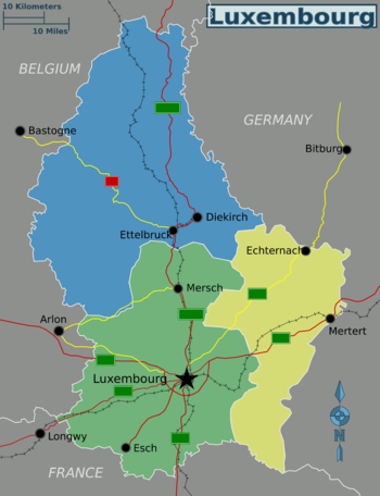 Luxembourg is officially divided into three districts