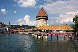 Wasserturm and Kapellbrücke - the town's two m...