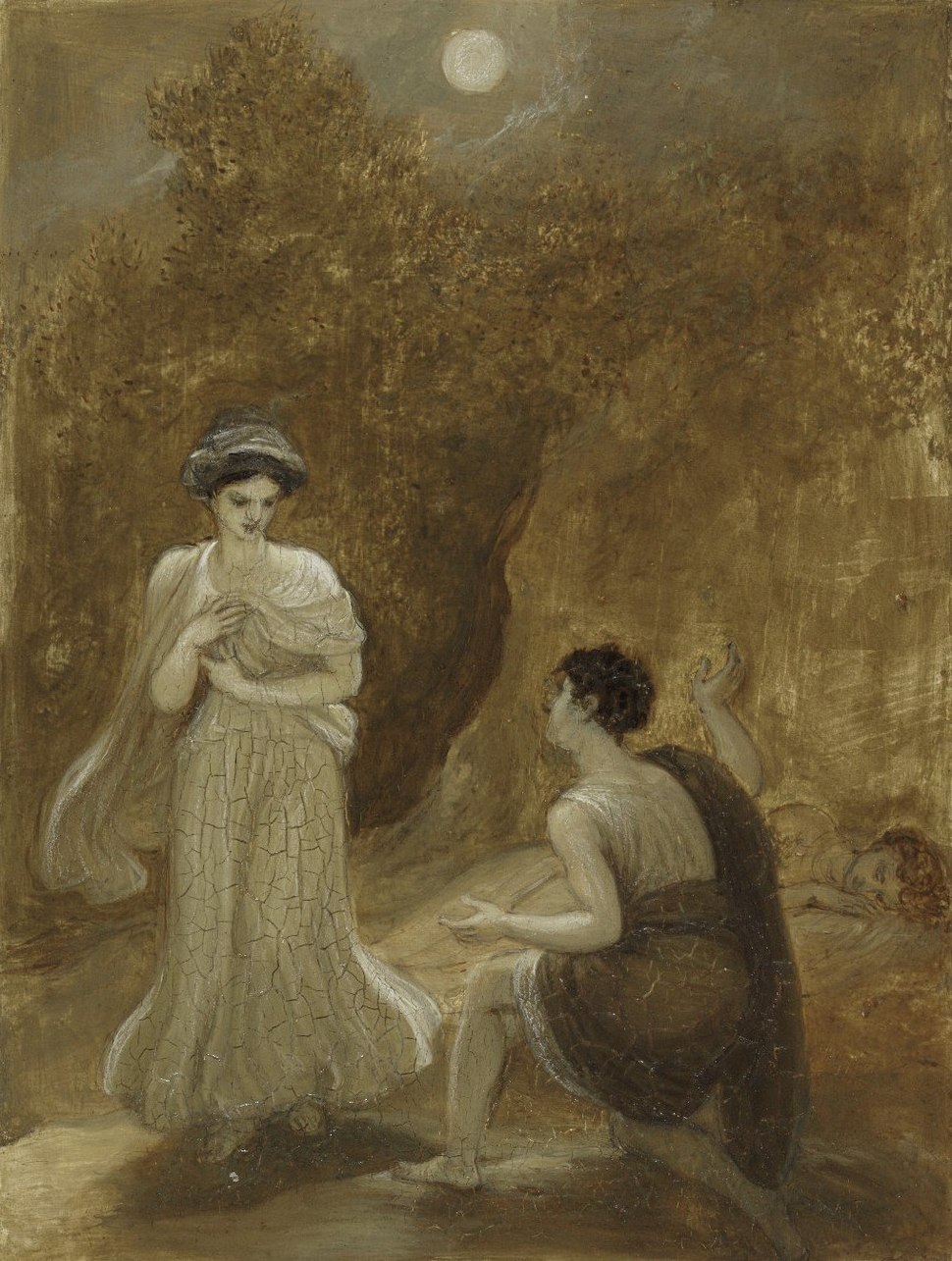 Lysander declaring his passion to Helena (Smirke, c. 1820-1825)