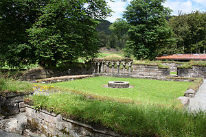 Lyse Abbey - View of the monastery courtyard