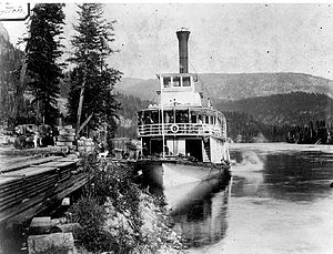 Lytton (sternwheeler) - Lytton at Sproats Landing, BC, on lower Arrow Lake
