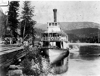 Lytton (sternwheeler) - Lytton at Sproats Landing, BC, on lower Arrow Lake