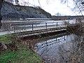 Máslovice-Dol, most přes ústí Máslovického potoka, Libčická skála.jpg