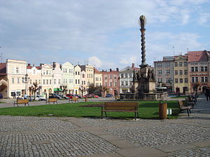 Broumov - Peace Square with Marian Column