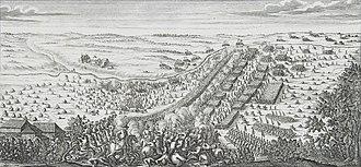 Battle of Gemauerthof - The Battle of Gemauerthof (engraving from the Johann Christoph Brotze's collection)
