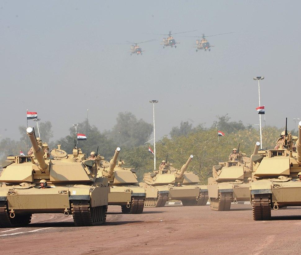 M1 Abrams tanks in Iraqi service, Jan. 2011