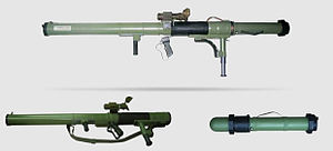 Saudi Arabian involvement in the Syrian Civil War - M79 Osa anti-tank weapon purchased by Saudi Arabia from Croatia for use in the Syrian Civil War