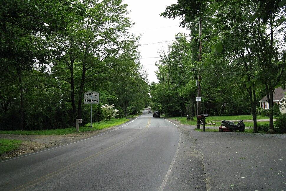 MA Route 14 eastbound entering Pembroke MA