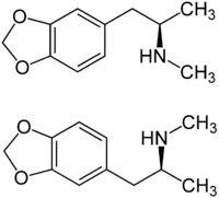 Strukturformel von MDMA
