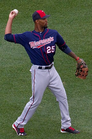 Byron Buxton - Buxton playing for the Minnesota Twins in 2016