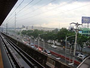 Santolan LRT station - Image: MRT 2 Tracks Santolan 12
