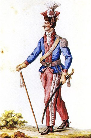 National Cavalry - Companion of the 1st, Greater Poland, Brigade of National Cavalry in the uniform introduced in 1790