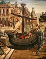 Maestro dei cassoni campana, teseo e il minotauro, 1510-15 ca. (avignone, petit palais) 04 caravella.jpg