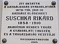 Magyaróvári Gazdasági Akadémia, Suschka Rikárd emléktábla, 2017 Mosonmagyaróvár.jpg