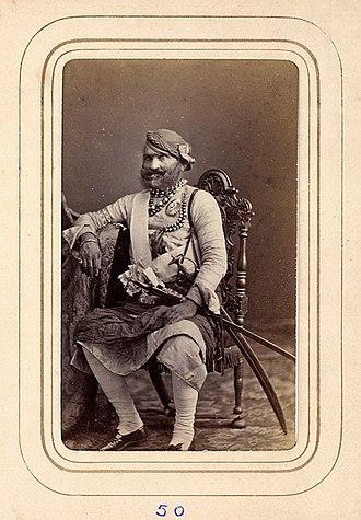 Dholpur State - Maharaj Rana of Dholpur Sir Bhagwant Singh in 1870.