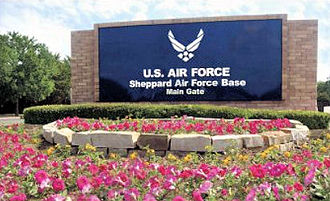 Sheppard Air Force Base - Main entrance sign