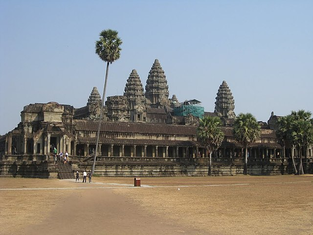 The Angkor Wat temple, the highest achievement of Khmer architecture