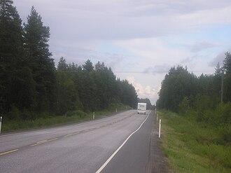 Kannus - Image: Main road 28