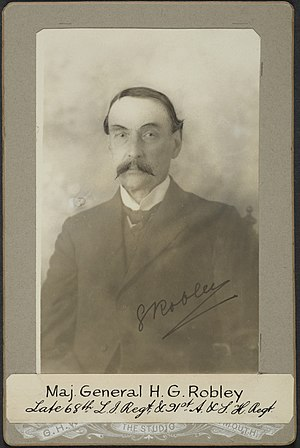 Horatio Gordon Robley - H. G. Robley c.1887