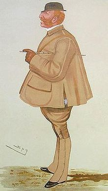 Cartoon of a ginger-haired paunchy gentleman in tweeds