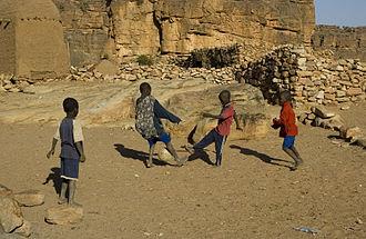 Football in Mali - Malian children playing football.