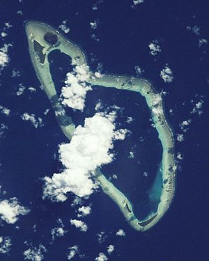 Nuguria - NASA picture of Malum Atoll, the northern and smaller atoll of the group