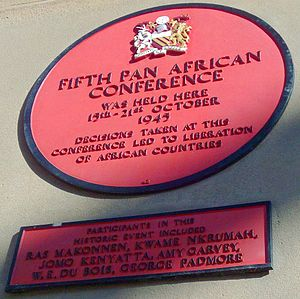 Pan-African Congress - The commemorating plaque in Manchester