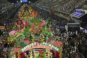 Rio Carnival - Parade of Mangueira, in the samba schools in more traditional Carnival in Rio.