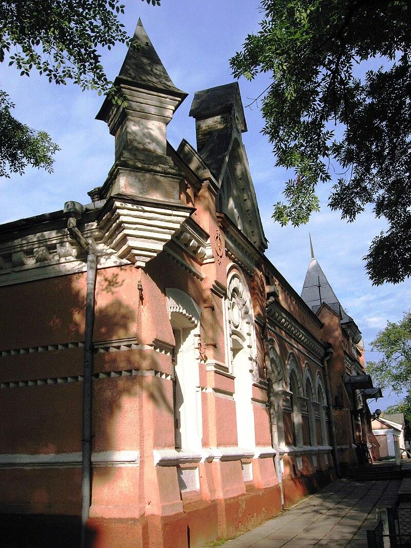Фрагмент здания вокзала.