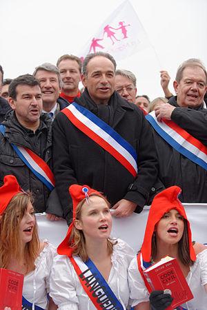 Law 2013-404 - Jean-François Copé, Philippe de Villiers, Patrick Ollier rally against same-sex marriage, Paris, January 2013