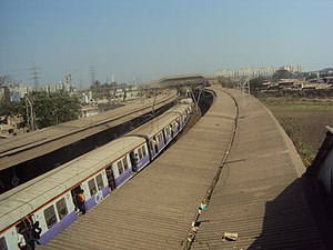 Mankhurd railway station - Mankhurd Railway Station foot-over bridge view