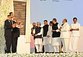 Manmohan Singh unveiling the plaque to inaugurate the New Integrated Terminal (T2), at Chhatrapati Shivaji International Airport, in Mumbai. The Governor of Maharashtra, Shri K. Sankaranarayanan.jpg