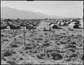 Manzanar Relocation Center, Manzanar, California. A view of the Manzanar Relocation center showing . . . - NARA - 538162.tif