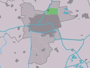 Lekkum - Image: Map NL Ljouwert Lekkum