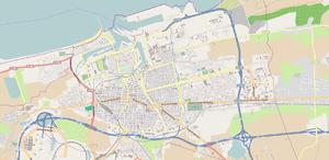 Map of Calais