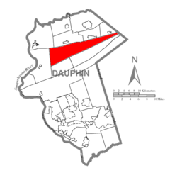 Map of Dauphin County, Pennsylvania Highlighting Jackson Township.PNG