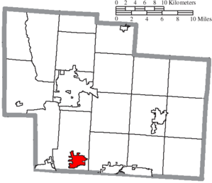 Powell, Ohio - Image: Map of Delaware County Ohio Highlighting Powell City