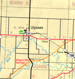 KDOT map of Grant County (legend)