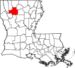 State map highlighting Bienville Parish