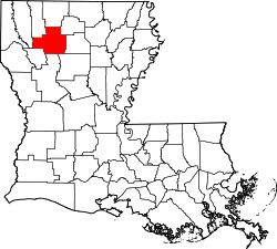 Harta e Bienville Parish në Louisiana