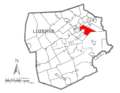 Map of Luzerne County, Pennsylvania Highlighting Plains Township.PNG