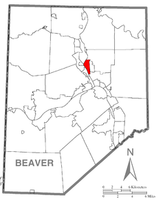 Map of New Brighton, Beaver County, Pennsylvania Highlighted.png