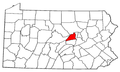 Map of Pennsylvania highlighting Union County.png