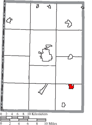 Gratis, Ohio - Image: Map of Preble County Ohio Highlighting Gratis Village